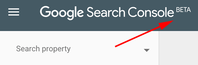 google-search-console-beta-lable